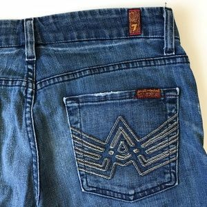 7 For All Mankind A Pocket Boot Cut Blue Jeans 28